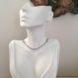Vintage Moonstone sterling silver necklace